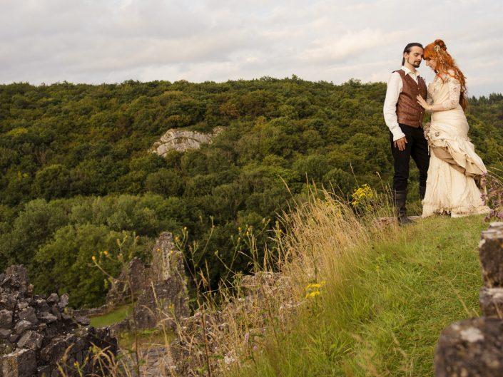 fantasy fairytale wedding ardennen ruine middeleeuws
