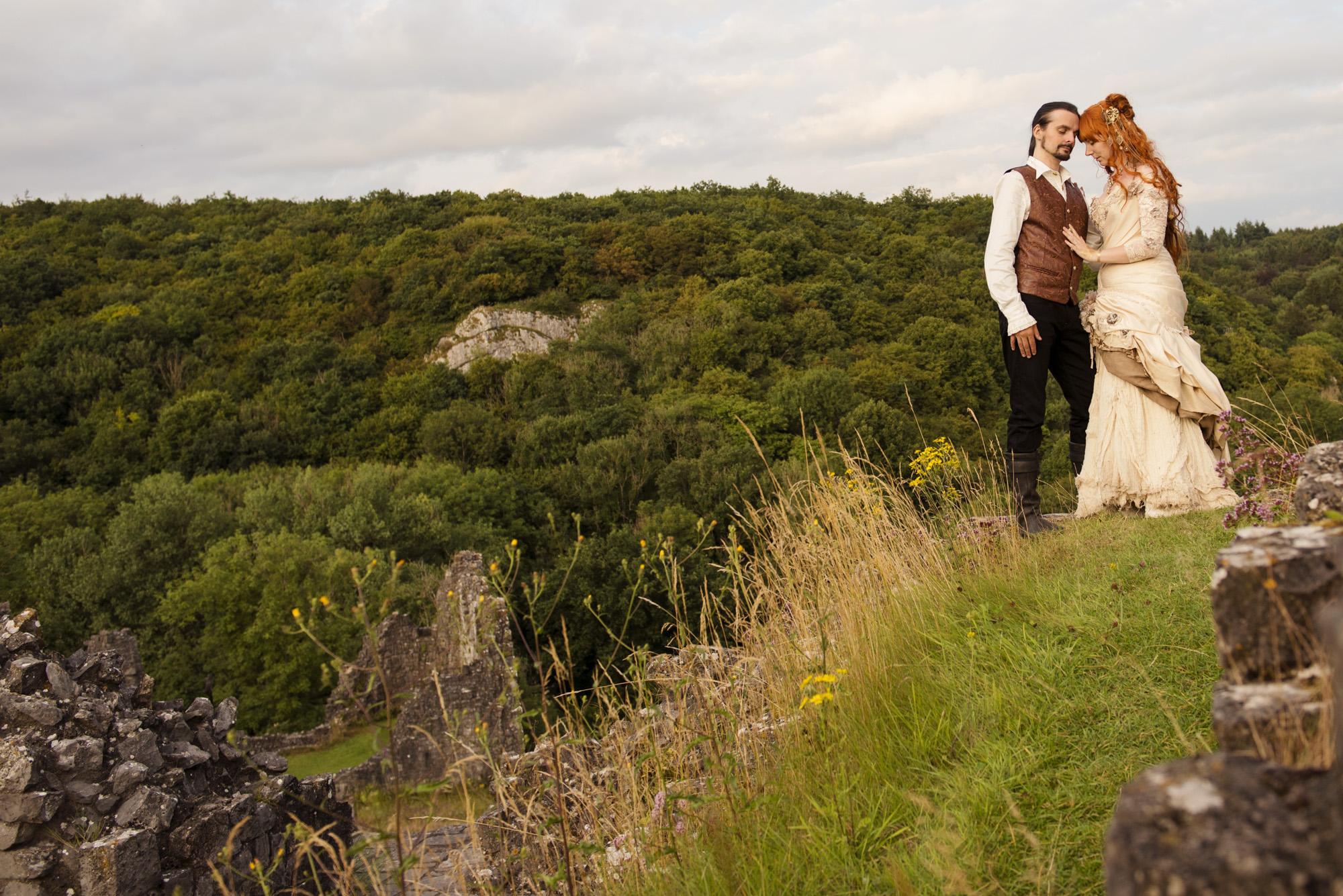 trouwfotograaf ardennen ceremonie middeleeuws sprookjeshuwelijk