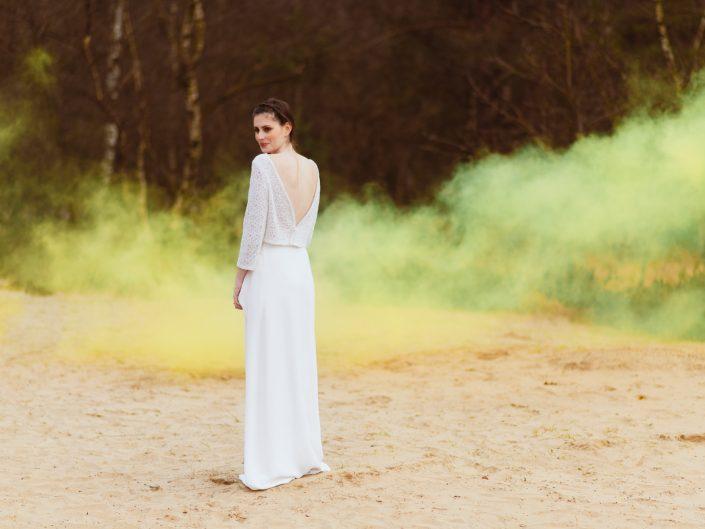 trouwfotograaf rookbom rook rugdecollete ayanne