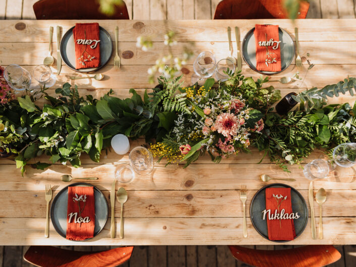 trouwfeest feesttafel trouwfotograaf