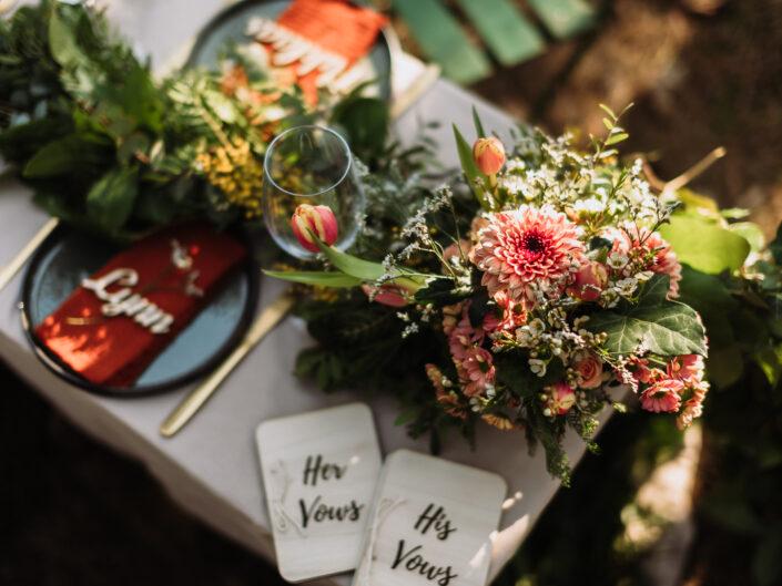 trouwfotograaf elopement intiem huwelijk ceremonie natuur etentje geloften