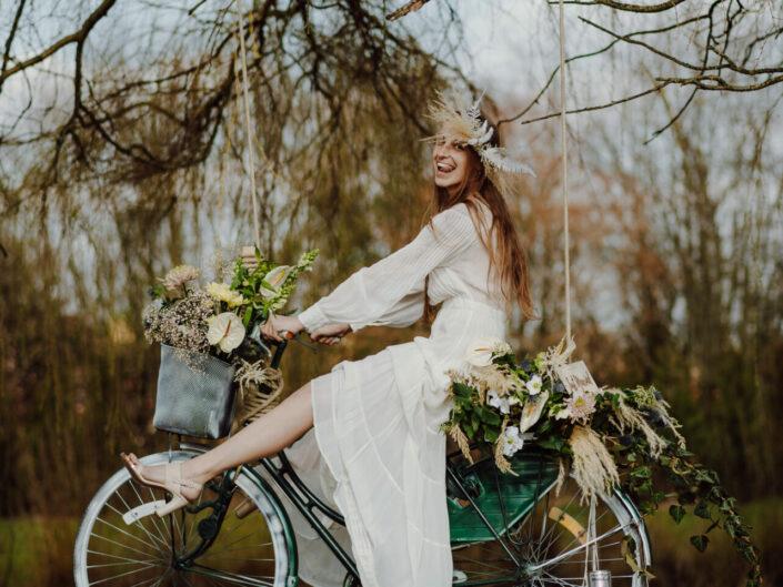 boho bride trouwfotograaf trouwinspiratie
